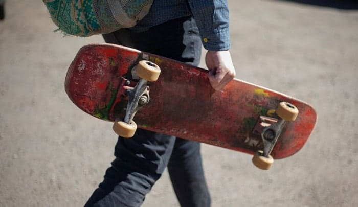 How to Carry a Skateboard