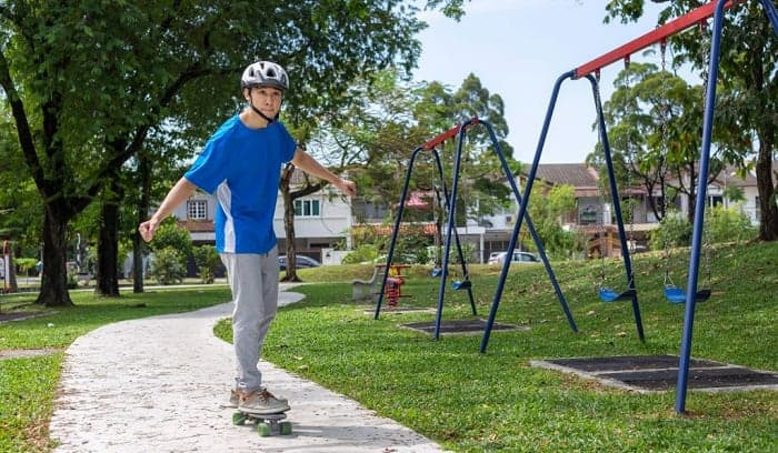 how to ride a skateboard for the first time