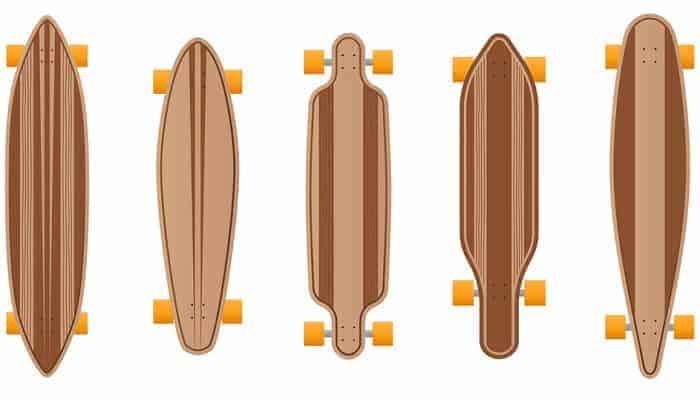longboards size chart