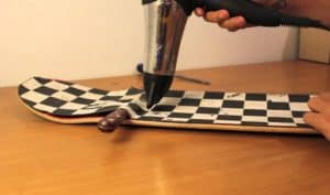 how to remove grip tape from a skateboard